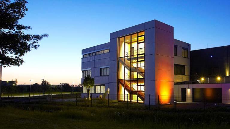 aixFOAM ljudisolering - Företagets byggnad där ljudabsorbenterna tillverkas