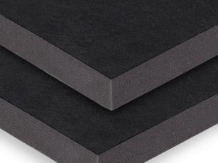 Akustikplatta med robust textil yta