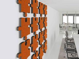 Design akustikabsorbent Puzzle
