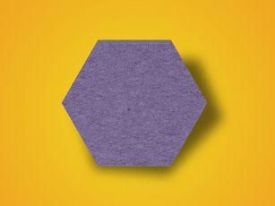 Ljudabsorbent filtyta Hexagon