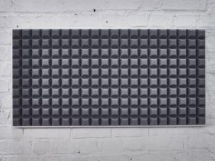 Ljudabsorbent med modern trapetsprofil