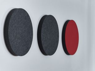 Ljudabsorbent filtyta - cirkel/ellips